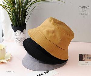 Summer Foldable Bucket Hat Women Outdoor Sunscreen Unisex Cotton Fishing Hunting Cap Men Basin Chapeau Sun Prevent Hats