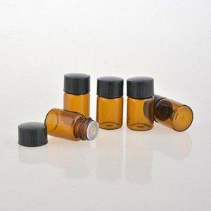 1000pcs lot 2 ML High Grade Amber Mini Glass Bottle, 2CC Sample Vial,Small Essential Oil Bottle