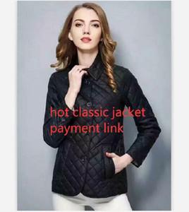 핫 클래식! 여성 패션 잉글랜드 짧은 스타일 얇은 면화 패딩 재킷 / 최고 품질의 브랜드 디자인 여성 재킷 M-XXXL