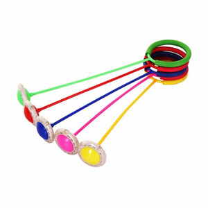Kids Toys Child Plastic Sport Toys Exquisite Fun LED Toy Flashing Jumping Ring Colorful Ankle Skip Jump Ropes Sports Swing Ball aPdV#