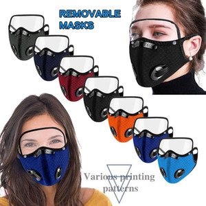 Cycling Face Mask with Eye Shield and Filter Outdoor Anti Dust Breathable Running Training Road Bike Masks Reusable and Washable fy9209