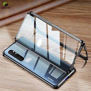 Magnetische Hülle für Xiaomi Mi Anmerkung 10 Lite Hülle Dual Side Tempered Gla Hard Cover für MI Note 10 Lite Funda H BBYJAO