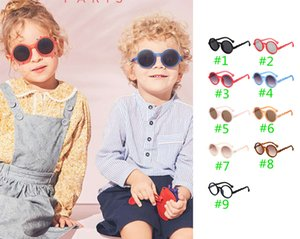 INS New Unisex kids girls boys sunglasses lovely girls sunglasses ultraviolet-proof kids glasses boys glasses  accessories