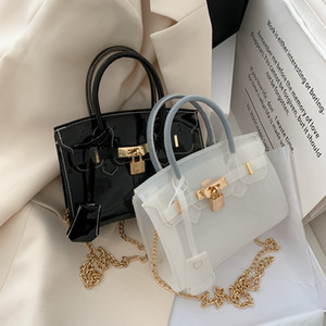 HBP Yeni Kadın Çanta PVC Şeffaf Platin Çanta Zincir Lazer Küçük Çanta Kadın Avrupa ve Amerikan Moda Tasarımcılar 5 Renk Toptan