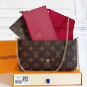 M61276 Mulher de Alta Qualidade Mulher Luxurys Designers Moda Crossbody Bags Carteira Backpack Bolsas Bolsas Cartão Suporte Cartão Bolsas De Ombro Tote 3 Pcs Box