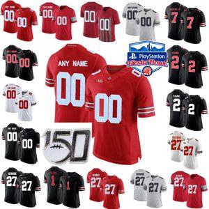 NCAA Ohio State Buckeyes Jersey 2 JK Dobbins 5 Garrett Wilson 25 Mike Weber Jr. 97 Nick Bosa College Futbol Formaları Özel Dikişli