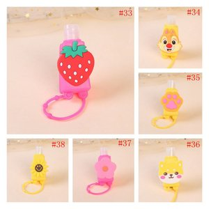 30ml Cartoon Patch Silicone Sleeve Shock Proof Protector Sleeves Hand Sanitizer Cover Wrap Thicken Dust Proof Protective Skin EWF2521