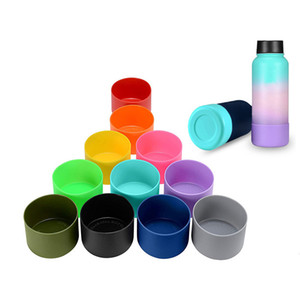 12oz 16oz 18oz 20oz 21oz 24oz Water Cup Silicone Base Silicone Glass Insulated Cover Sports Cup Holder