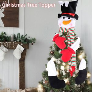 Gift Cheerful Party Home Decor Holiday Festival Cute Snowman Winter Ornament With Hat Christmas Tree Topper Living Room Pendant