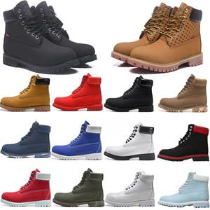 Сапоги 6-дюймовые Обувь Водонепроницаемые ботинки Обувь Дизайнер Спорт Бег Мужчины Женщины Мотоцикл Кроссовки Желтый Черный Красный Белый Размер 36-45 с коробкой
