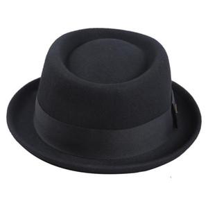 Sedancasesa Men Fedora Fashion 100% Pure Australia Men's with Pork Pie for Classic Church Wool Felt Hat 201028