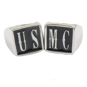 FansSteel Custom Made Paslanmaz Çelik Erkek Wemens Takı Anahtarları Alfabe ABD MC Adı Mektuplar Yüzük Seti Kişiselleştirilmiş Özelleştirilmiş Hediye