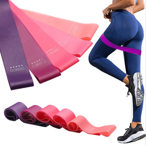 Resistance Bands Stretch Belt Yoga Rope Solid Color Workout Stretch Resistance Loop Natural Latex Sports Elastic Bands Home Exercise DHE3876