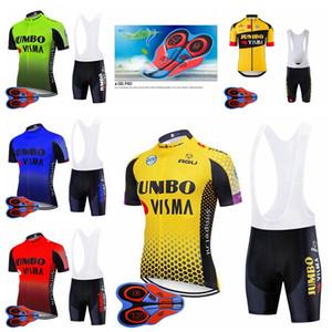 Jumbo Visma Equipe Mens Ciclismo Jersey Mountain Bike Roupas Bicicleta Roupas Respirável Camisa De Manga Curta Camisa 9D Bib Shorts Set F072220