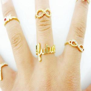 PCs / 1 satz Ringe Sets Punk Crystal Mid Finger Tip Stacking Ringe Eheringe Set Set