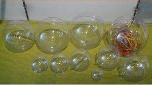 40pcs 4/5/6 см Романтический дизайн Новогодние украшения Болл Transparent можно открыть пластиковые Clear безделушка украшения подарков Present Zc51 #