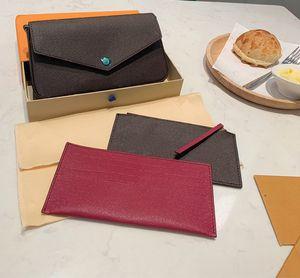kutu ile üç parçalı cüzdan kahverengi mektup çiçek deri moda zincir omuz çantası çanta, mini cüzdan kart çanta moda çanta