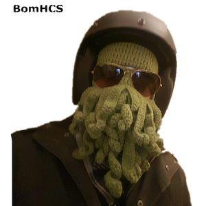 BomHCS novetly Tentacle Ahtapot Korsan Cthulhu Crochet Beanie Hat Rüzgar Cap Maske