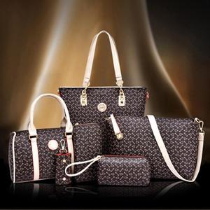 Nuovo sacco per cadaveri trasversale 6PCS / SET donne composito femminile del sacchetto signore alla moda floreale stampato borsetta Set