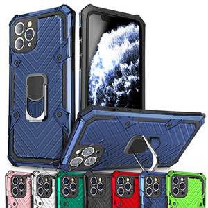 New Stand Armor Phone Holder Case for iPhone 12 Mini 11 Pro Max 7 8 Plus X XS Max Hybrid TPU Hard PC ShockProof Cove For Moto G8 LG Stylo 6