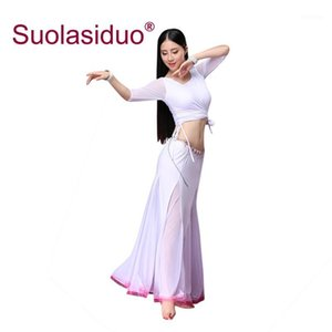 Belly Dance Costumes Women Dancing Practise Clothes Belly Dancing Dresses Stage Performance Suit1
