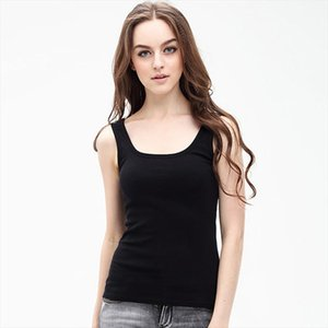 2020 Summer Vogue 100% Cotton Tank Tops Women U Neck Slim Casual Bottoming Shirt Sleeveless Female Sex Tanks White Top Free Size