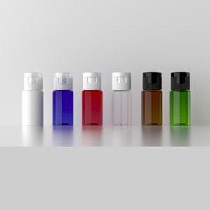 100pcs lot 10ml Mini Reusable travel bottle,Cream Emulsion container with flip cap ,Cosmetic empty plastic makeup Bottles