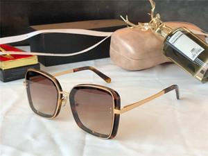 4921 Novas Mulheres Óculos de Sol Grande Quadro Metal Templo Placa Completa Quadro Óculos Encantadores e Elegante Estilo Anti UV400 Óculos Casuais óculos