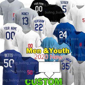 50 Mookie Betts Jerseys 5 Corey Segarder 7 Julio Urias Cody Bellinger Los Custom Angeles Max Muncy Justin Turner Kershaw Joe Kelly Baseball