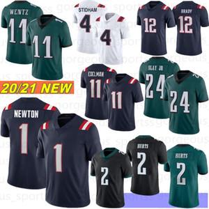1 Cam Newton 11 Julian Edelman Uomo Jersey Jersey 2 Jalen Hurts 2021 Hot 11 Carson Wentz Slay JR Kelce Jackson Jalen Reagor 12 Tom Brady