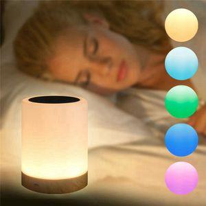 Intelligente Lampada da comodino Lampada da tavolo a LED Amicizia creativa letto Scrivania Luce per Camera da letto Comodino Lampe Bed Night Lights RRA3708