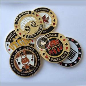 9D60 Banker métal carte de presse jetons de poker Texas Hold'em Acssories pièces commémoratives Souvenir porcelet étoiles Protecteur SC139