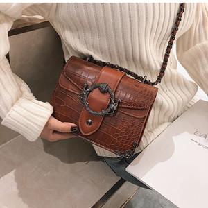 HBP Luxury Handbag Retro Fashion 2020 New Quality PU Leather Women's Designer Handbag Crocodile pattern Chain Shoulder Messenger Bag