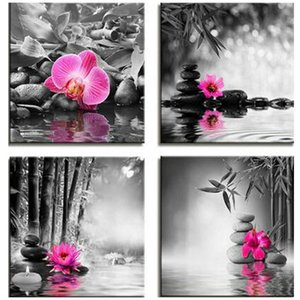 Black white mozaik puzzle 5d diy diamond painting full square picture of rhinestones orchid flower diamond embroideryZP-2727