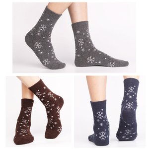 5 Pairs Lot Wool Socks Women Winter Snow Flower Pattern Cashmere Warm Socks Ladies Girls Christmas Gift 201012