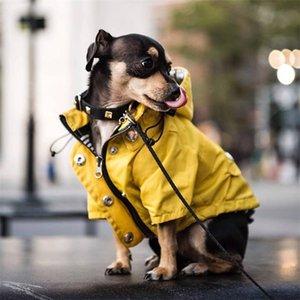 Küçük Orta Köpekler için Pet Köpek Giysileri Su Geçirmez Yavru Yağmurluk Moda Serin Köpek Ceket Kaban Rüzgar Geçirmez Köpekler Kıyafet Pet Supplie 201223