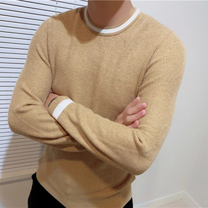 Men's High Quality Tommi O-neck 100%cotton Sweater Autumn Winter Jersey Jumper Hombre Pull Homme Hiver Pullover Knitted Sweaters