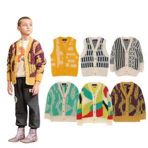 EnkeliBB 2020 TAO осень-зима Kniting пальто Дети Кардиган для мальчика девушки Марка Дизайн малышей вскользь пальто зимней одежды 0930