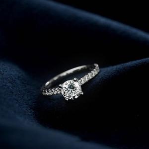 produto original Moda Trendy 925 Engagement prata anel de casamento para as mulheres prometem dedo atacado LR212S desconto
