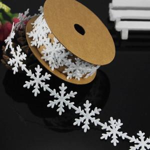 Kar tanesi Dantel Şerit Yüksek Kalite kar tanesi Şerit Kabartmalı Noel Diy Malzemeleri Düğün Hediye P4Nf # Malzemeleri