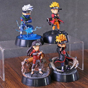 Akatsuki Senju Hashirama Pain Hatake Kakashi Anime Uzumaki Naruto PVC Action figure toys doll Christmas gift for kids