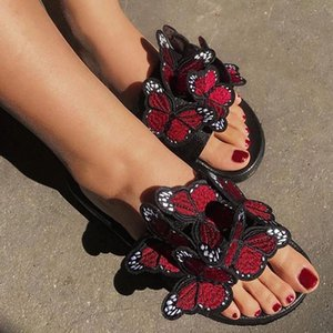 Woman Summer Sandals Women Shoes Female butterfly bow Ladies embroidery Retro Sandalias #1u3o