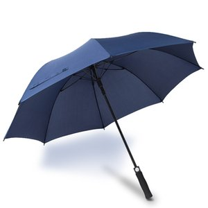 Fiber Straight Rod Umbrella Automatic Umbrella Windproof Mens Black Compact Wide Auto Open Close Lightweight CFVT0226