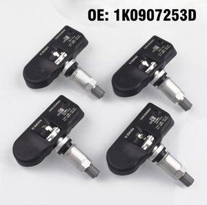 4PCS Car TPMS Tire Pressure Monitoring Sensor 1K0907253D for vw TIGUAN 2009 2011,PASSAT 2006 2010 ,BEETLE 2008