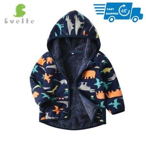 SVELTE для 2-7 YRS Kids и Modyler Boy подкладка меховой флисовые толстовки куртки пушистые кофты мальчик одежда напечатанные пальто на зиму 201022
