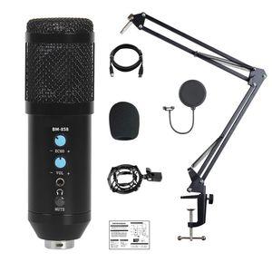 Kit microfono condensatore USB Computer Cardioid MIC per Podcast Live Streaming Recording Music Voice Over Cardioid Studio Recording