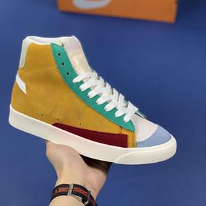 Sapatos de Plataforma Mens 1977 Blazer Meados 77 Vintage Camurça Estranho Preto Azul Coisas Designer Sneakers Couro Moda Feminina Sapatos Casuais