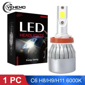 1PC C6 4000LM H11 H8 H9 LED Bulbs Car Lights 6000K White Replacement For Driving Lamp Automotive LED 12V COB Chip Car Bulb
