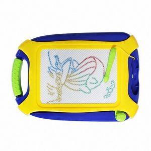 Tarjeta magnética del Doodle, Tablero de dibujo colorido, borrable cojín que bosqueja los niños, juguetes para pintura de la escritura y el aprendizaje, Portátil lAW7 #