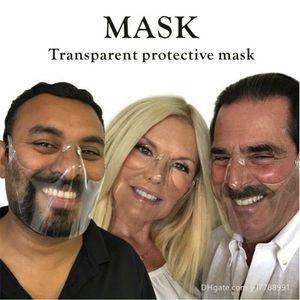 Designer Face Mask Durable Mask Face Combine Plastic Reusable Clear Face Mask Shield Transparent Masks PT55